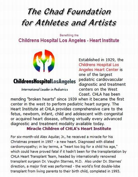 The Chad Foundation - Childrens Hospital Los Angeles Heart ...